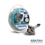 Лампа Philips PR H4 60/55W+100% 12V 12342XVS2(комплект 2шт)